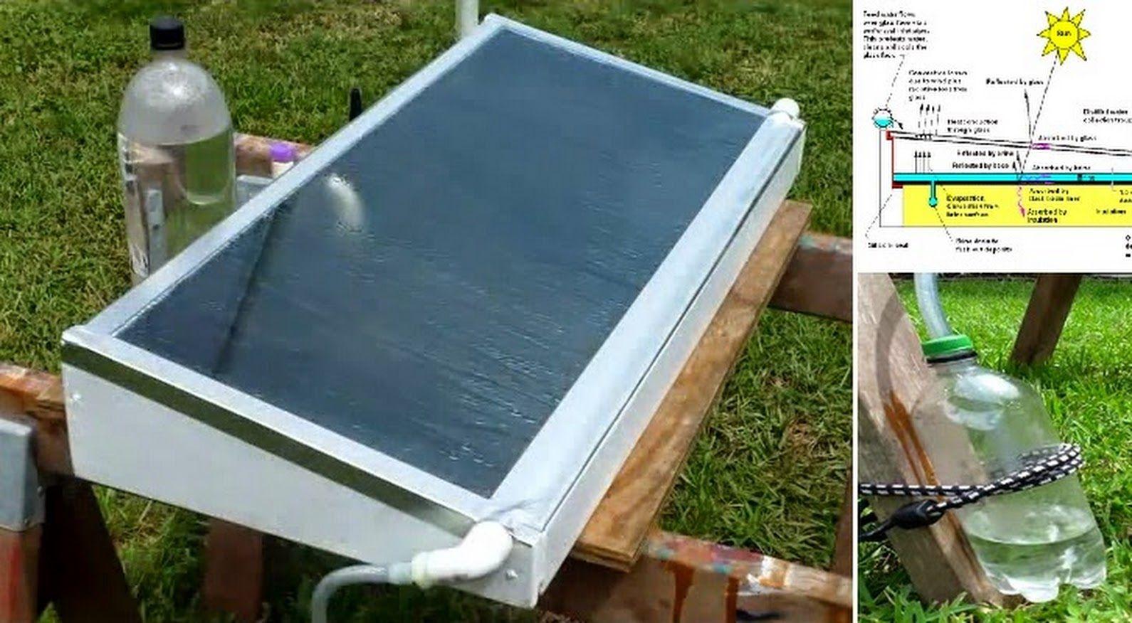 diy solar water distiller how to make httpwwwgoodshomedesign