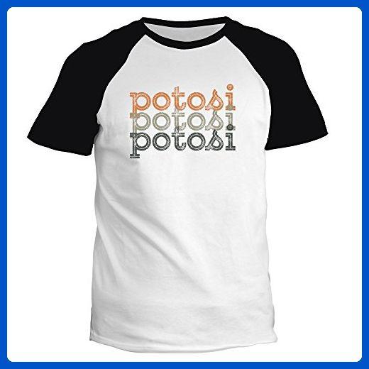 Idakoos - Potosi repeat retro - Cities - Raglan T-Shirt - Retro shirts (*Amazon Partner-Link)