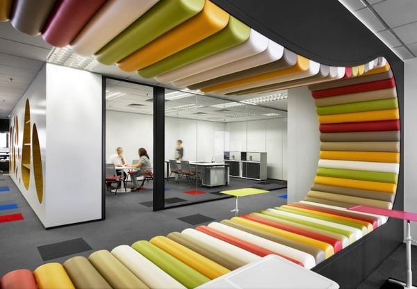 office interior design Funky Style Pinterest Office