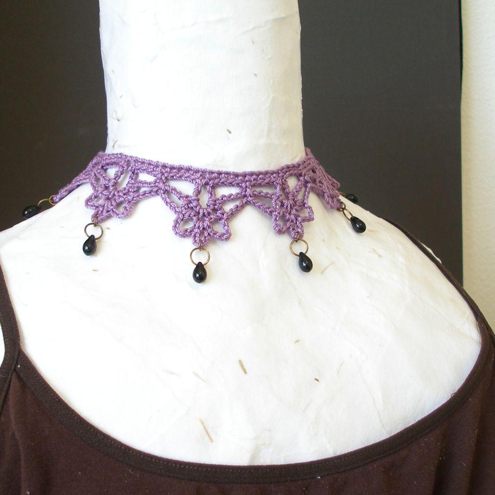 PDF Crochet Pattern - Mina Harker Necklace | Crochet | Pinterest ...