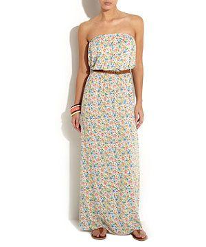 strapless maxi dress pattern - White Pattern (White) Disty Floral ...