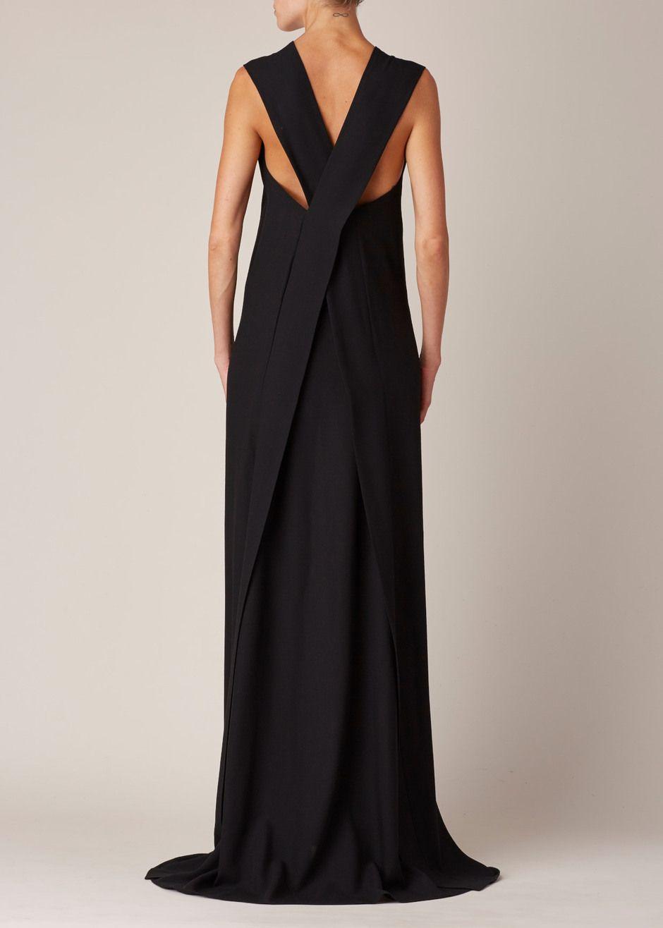 Ann demeulemeester lightlaine dress black wear pinterest