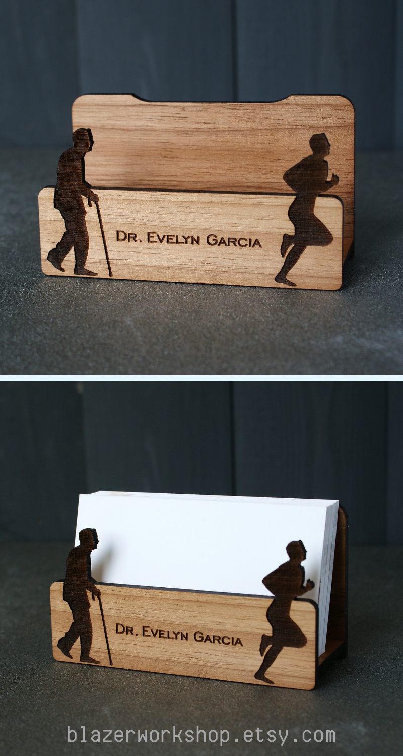 Personalized Doctor Gift Physician Surgeon Doc Gifts Pediatrician Nurse Present Business Card Holder Desktop
