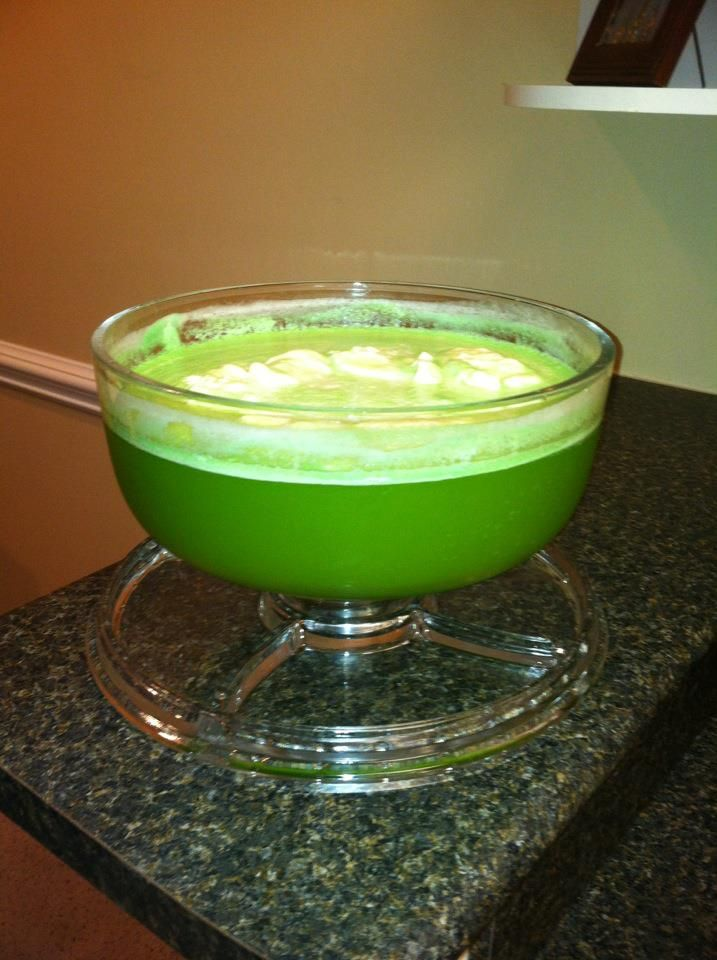 Ice Cream Punch (You can make it any color you want)  1 two liter of gingerale (chilled)  1 46 oz. can of pineapple juice (chilled)  1 cup of sugar  2 packs of Koolaide (whatever color you desire)  One container of vanilla Ice cream  Directions: Put all ingredients in, stir.  Put Ice cream in last.