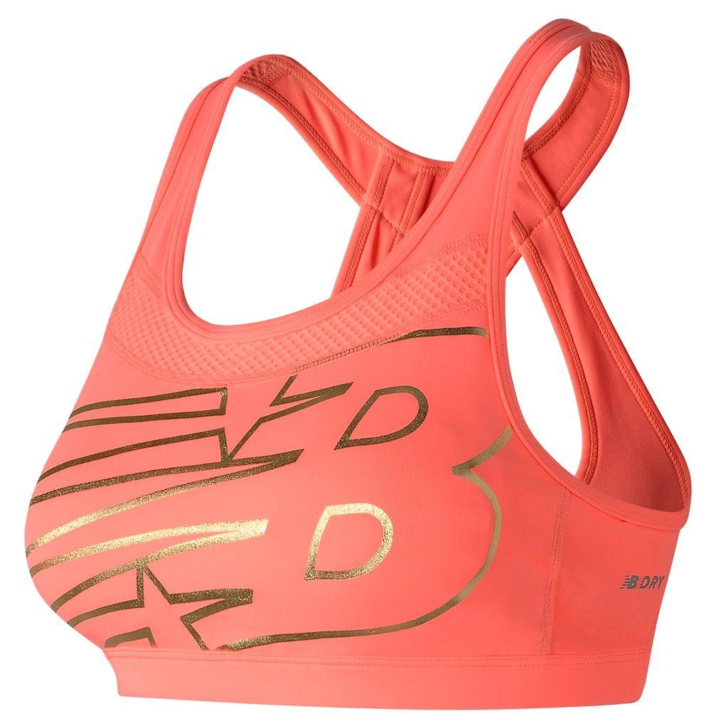 Womens Racerback Sports Bra Sz L New Balance Dark Pink