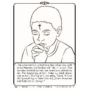 ash wednesday coloring pages # 2