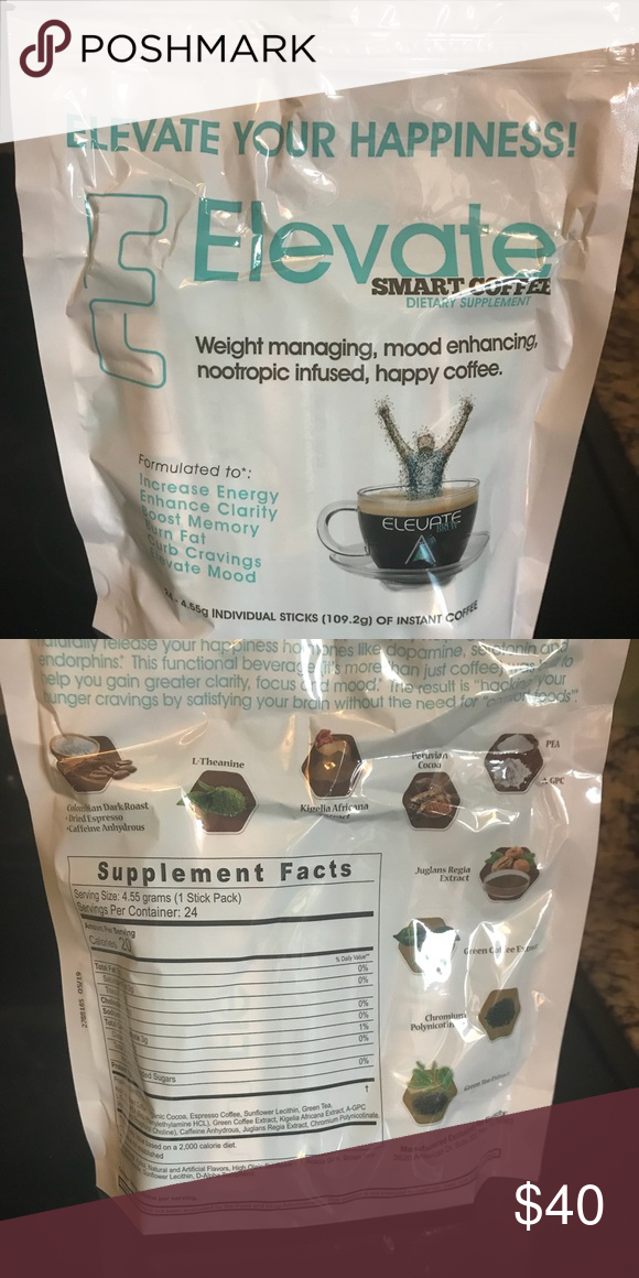 Elevate Smart Coffee 24 individual sticks Elevate Other