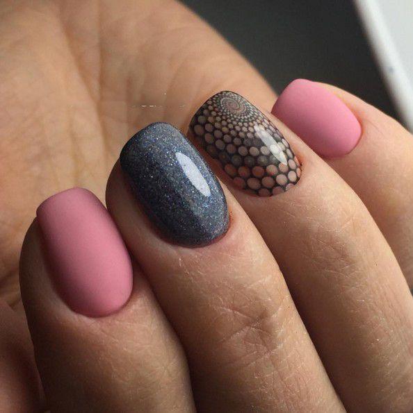 Short Nail Art Colored Geometry   nails   Pinterest   Short nails ...