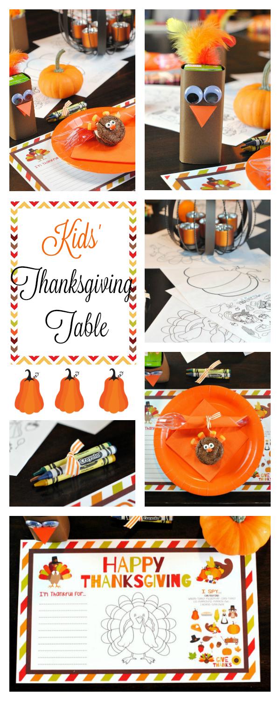 Thanksgiving Kids' Table Setting Ideas