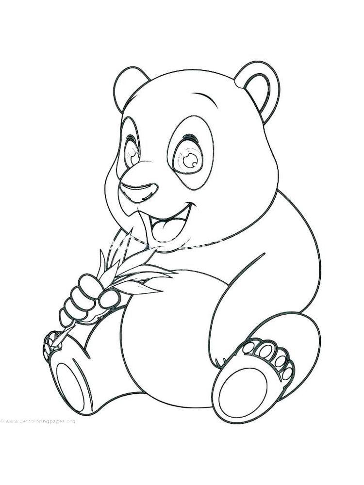 Panda Bear Coloring Pages Easy. Panda is a China national