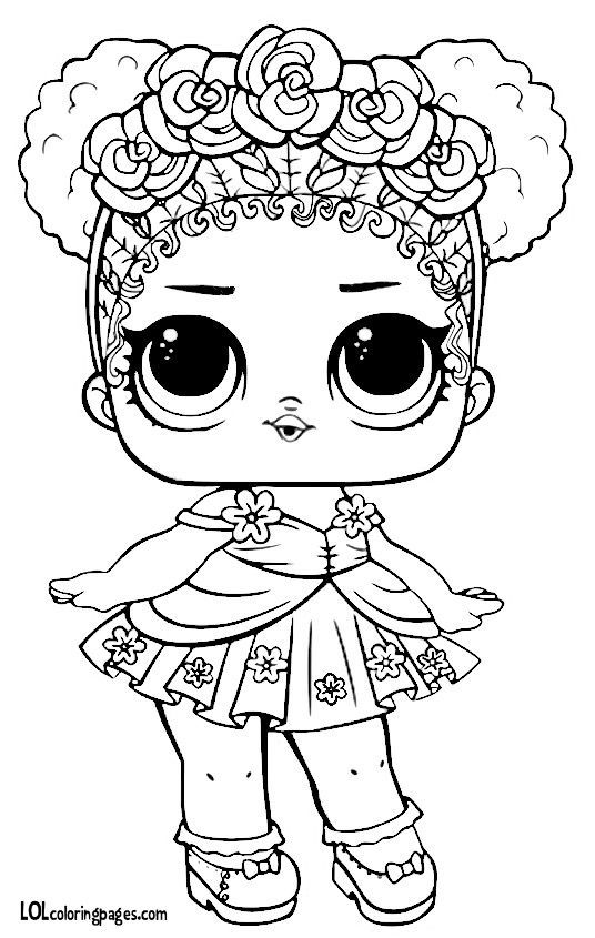 Lol Surprise Series 3 Coloring Pages Portraits