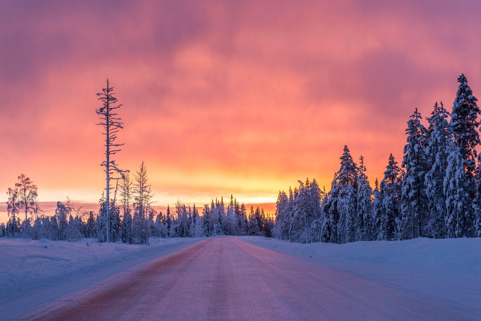 Midday sky at Ylläs Finland