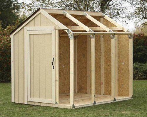 Outdoor Storage Shed DIY Building Kit Garden Utility ...