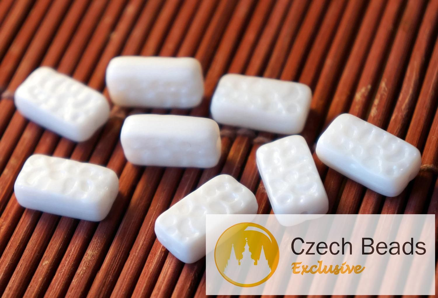 ✔ What's Hot Today: White Czech Glass Brick Rectangle Beads Czech Glass Beads Bohemian Beads Wedding Beads Original Exclusive Authentic 15mm x 8mm 12pc https://czechbeadsexclusive.com/product/white-czech-glass-brick-rectangle-beads-czech-glass-beads-bohemian-beads-wedding-beads-original-exclusive-authentic-15mm-x-8mm-12pc/?utm_source=PN&utm_medium=czechbeads&utm_campaign=SNAP #CzechBeadsExclusive #czechbeads #glassbeads #bead #beaded #beading #beadedjewelry #handmade