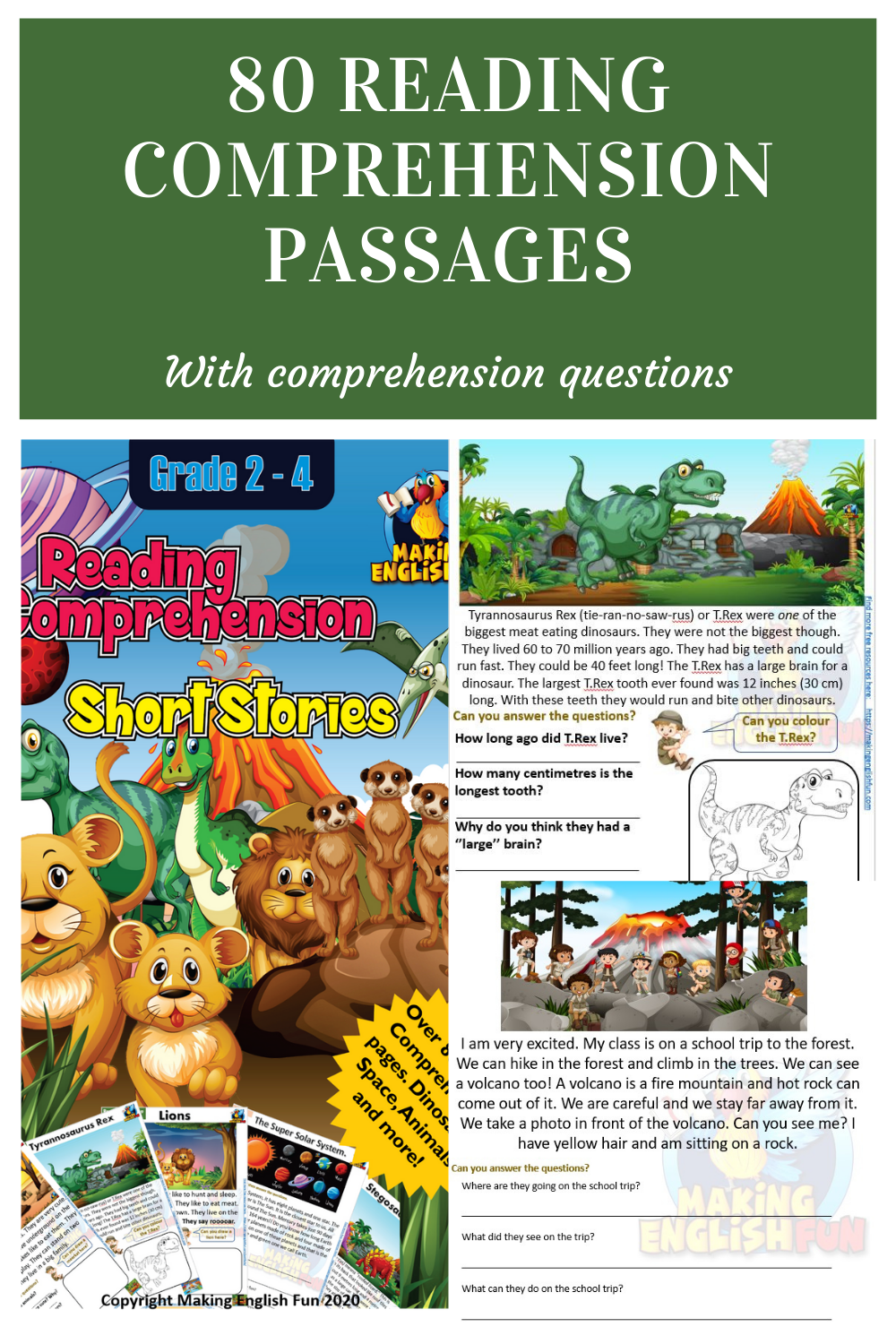 80 Reading Passages Reading Passages This Or That Questions Phonics Kindergarten [ 1500 x 1000 Pixel ]