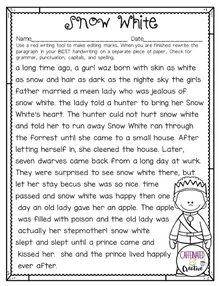 Princess Proofreading A Free Proofreading Activity Proofreading Activities Editing Marks Punctuation Activities Revising and editing worksheets