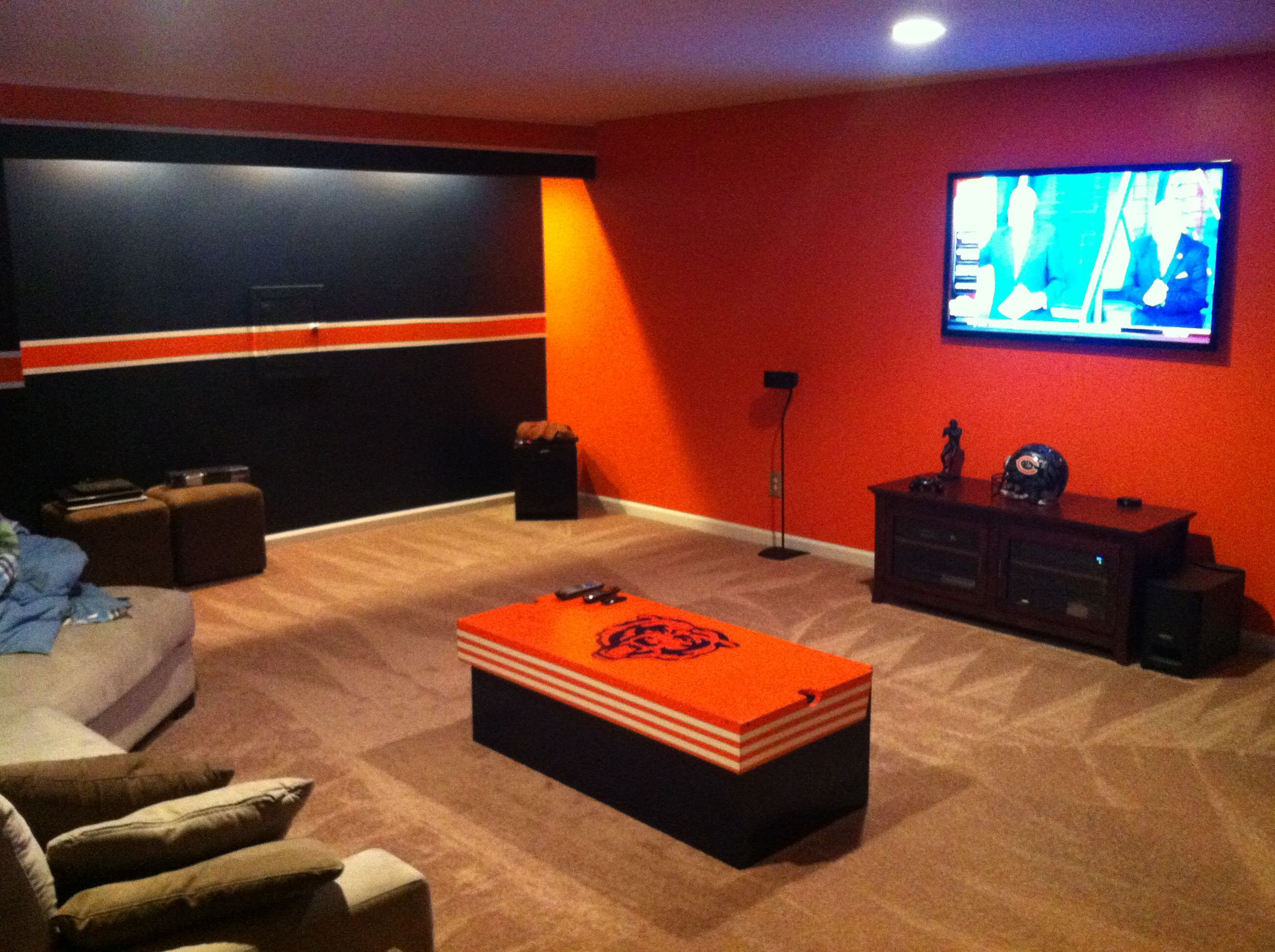 Chicago bears bathroom accessories - Chicago Bears Man Cave Kinda What Aj Is Going For