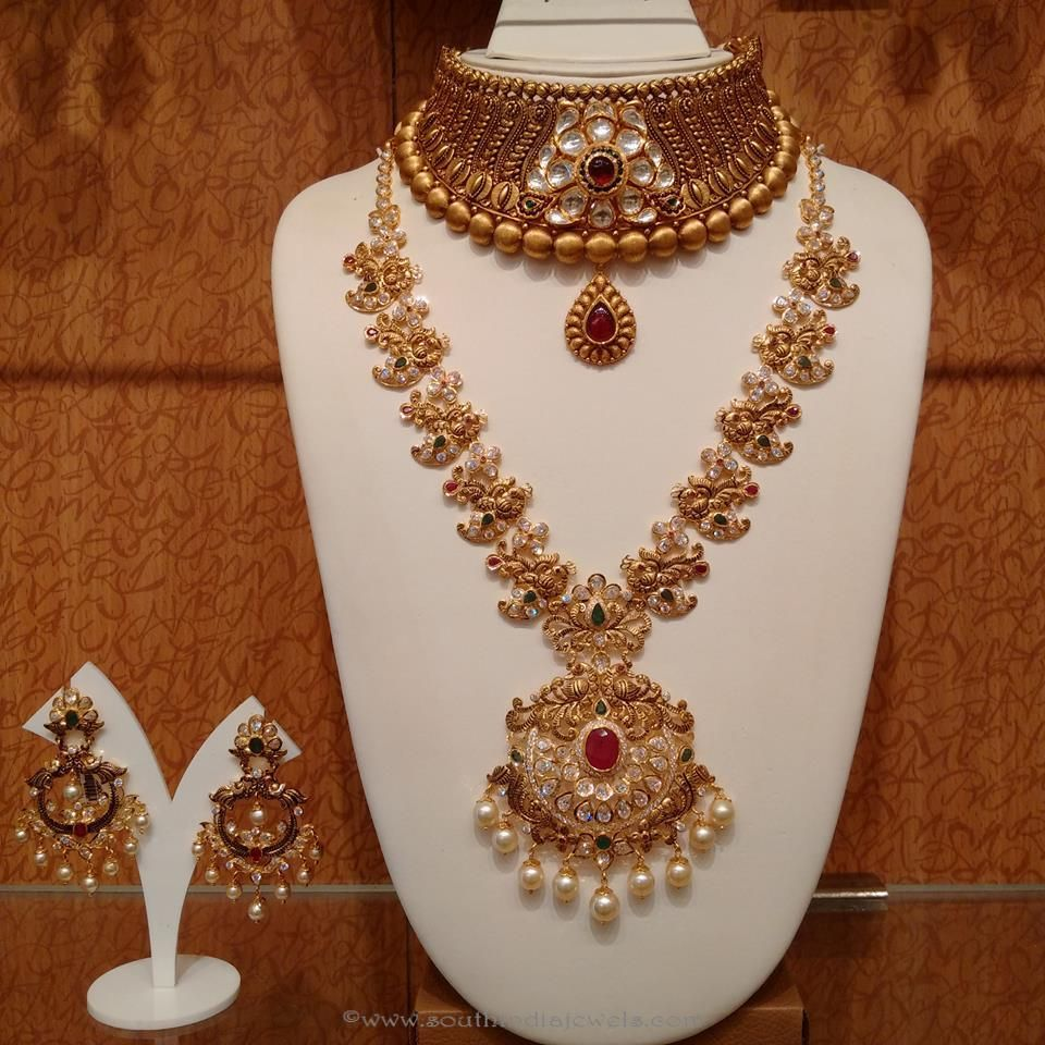 Gold Antique Bridal Jewellery Sets from NAJ | Wedding jewellery ...