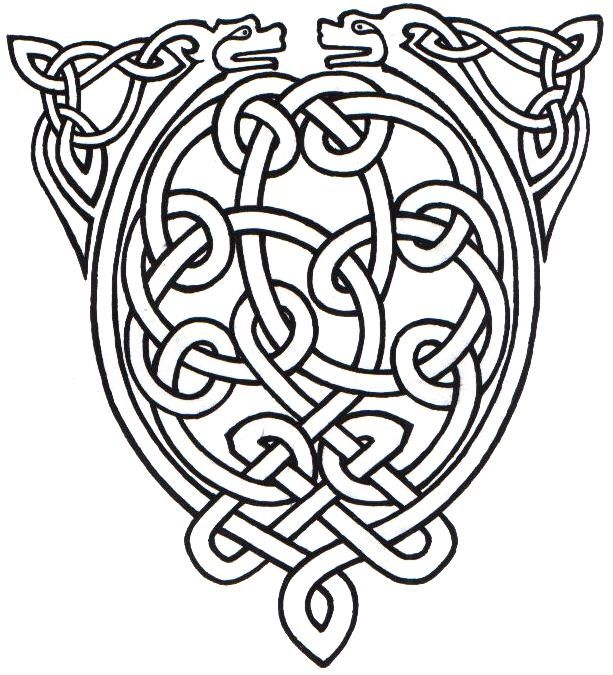 Celtic Animal Knot | Coloring, Celtic stained glass and Celtic knots