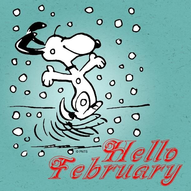 Hello February!   Snoopy, Snoopy love, Snoopy pictures