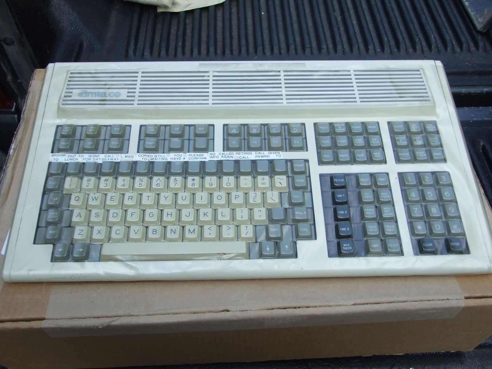 Vintage Computer Keyboards 1 Used Amtelco Unified Keyboard Keyboards Keyboard