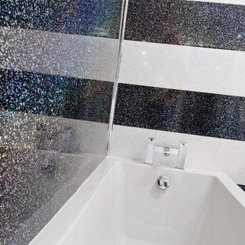Black Sparkle PVC Wall Cladding Panels. Black Sparkle PVC Wall Cladding Panels   77 Bathroom   Pinterest