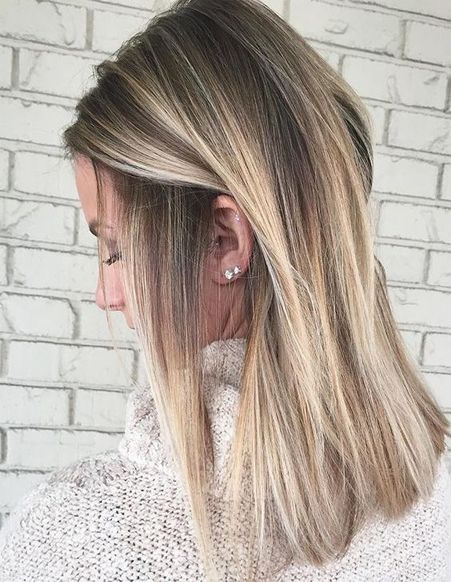 Hair Color Ideas For Straight Medium Hairstyles 2018 Cabelo