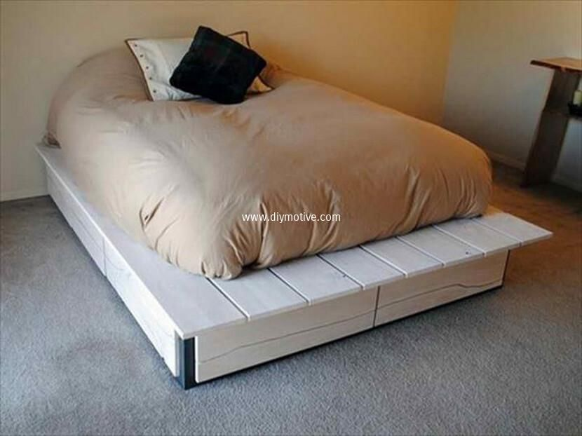 100 DIY Ideas For Wood Pallet Beds