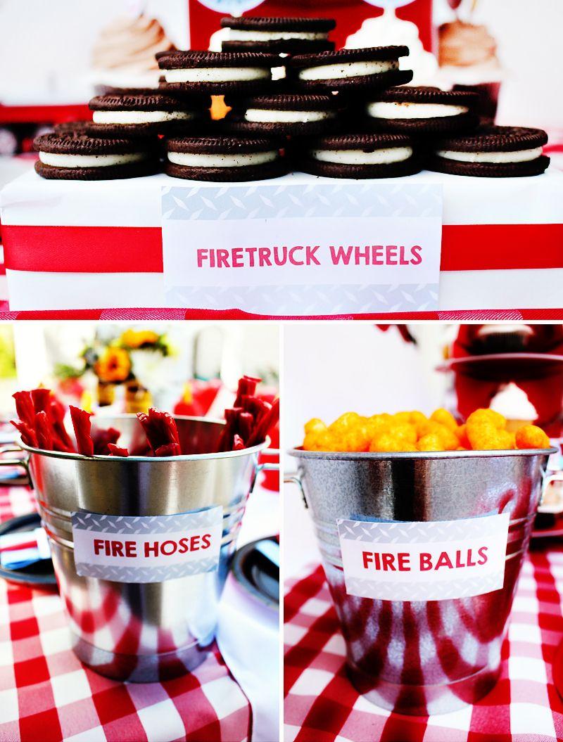 Bright & BLAZING Fireman Birthday Party Fireman birthday