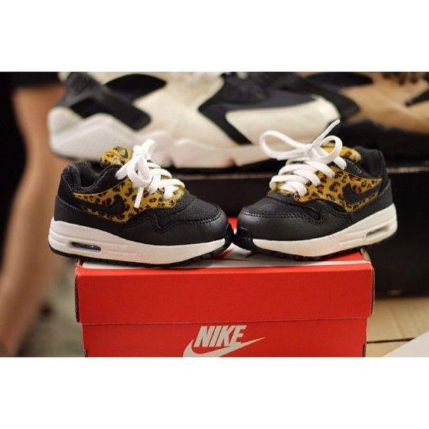 Shoes: air max, nike air max 1, nike, baby clothing, leopard