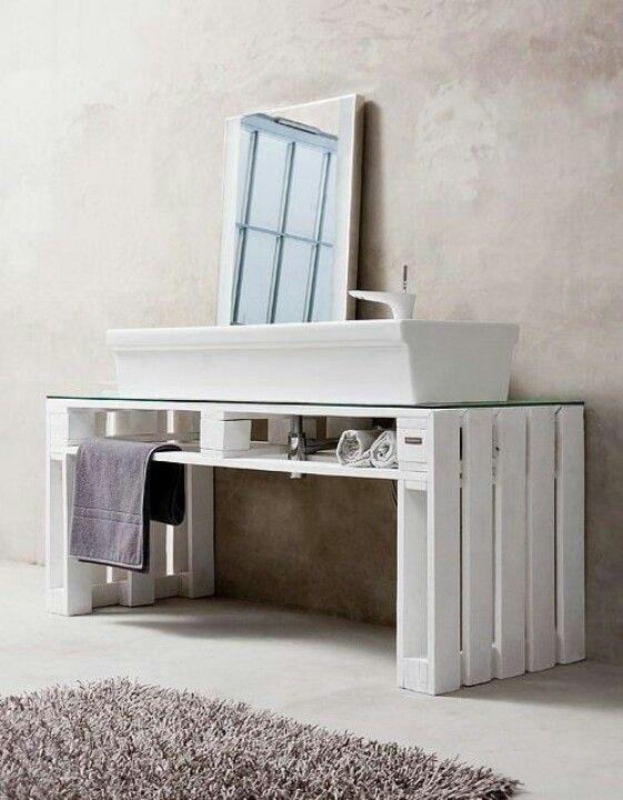 Pallets for the bathroom Household Pinterest Madeira