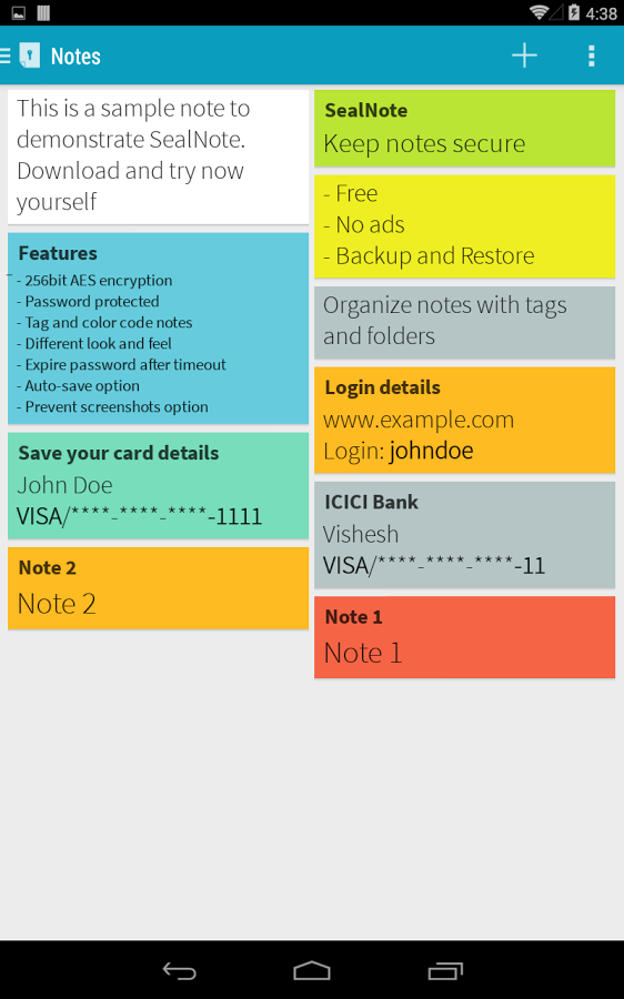 Sealnote - Seriously secure notes app for Android  #Android #Notes