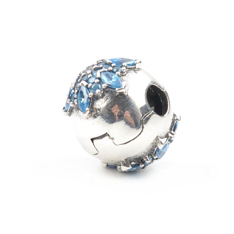 Lucky Sonny Snowflake Charm Bead Fits Pandora Clip Charm