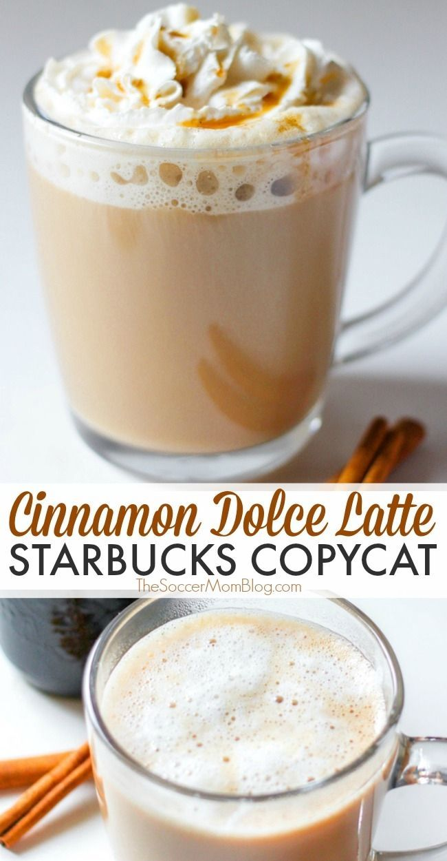 How to make a delicious copycat version of Starbucks cinnamon dolce latte! Treat yourself to a decadent Starbucks Cinnamon Dolce Latte any time you want with this spot-on copycat recipe! Making this coffee drink at home will save you money and the time you would have taken to go to Starbucks! Try this easy and delicious cinnamon dolce latte today! #starbucks #recipes #coffee #latte #copycat #drinkrecipes