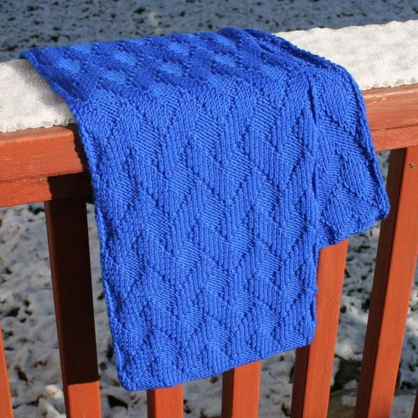 Free pattern for Basket weave Scarf
