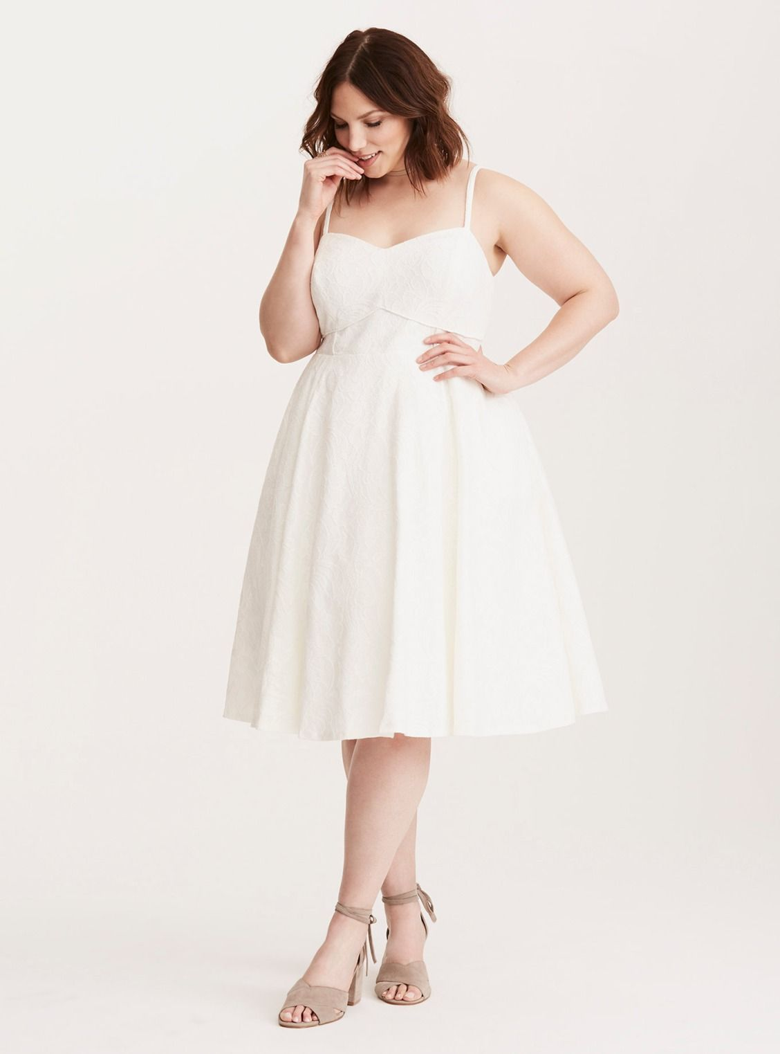 Lace Piping Tank Skater Dress/ Plus Size Clothing / TORRID ...