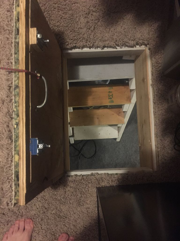 14 secret crawlspace access door safe room extra for How to build a gun safe room