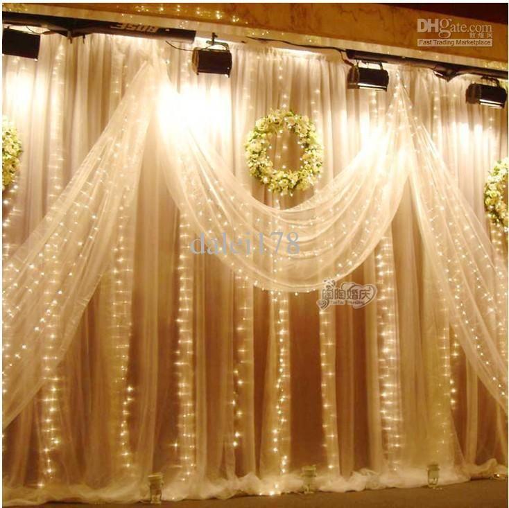 3mx3m 300 Led Outdoor Christmas Xmas String Fairy Wedding Curtain Light 110v