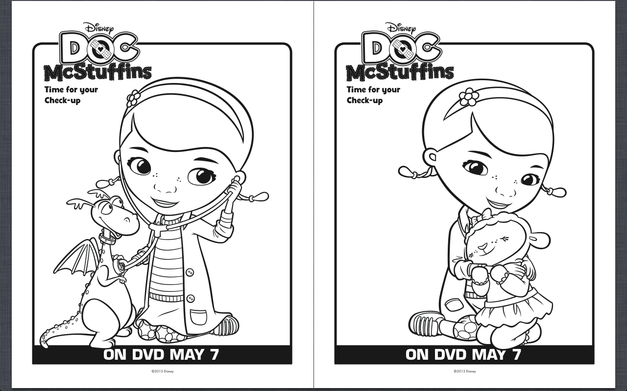 Free Printable Doc McStuffins Coloring Pages | Pintar y Tarjetas