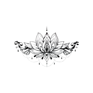Lotus With Glamour Floral Thigh Tattoos Tattoo Arm Designs Hip Tattoo
