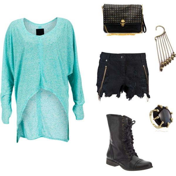 Black, Gold and Turquoise, created by miaslittleworld on Polyvore