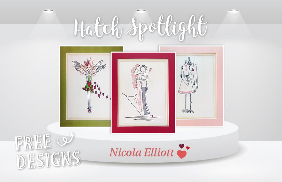 Stitching Sweet Valentine's Pictures with Nicola Elliott - FREE Downloadable Embroidery Designs
