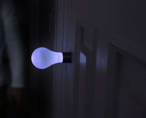 Light Bulb Door Handles - The Knob Light Uses Kinetic Energy (GALLERY)