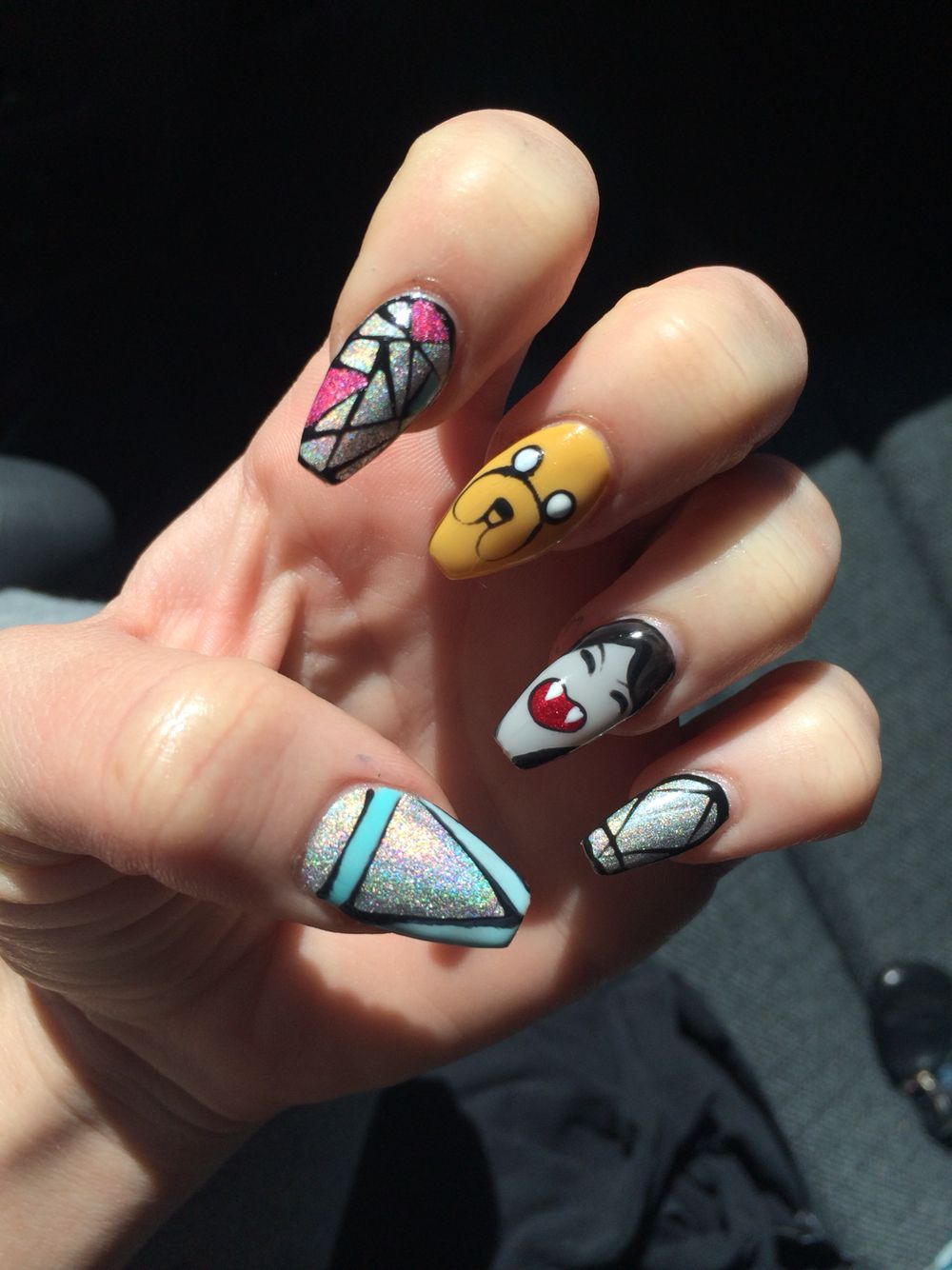 Adventure Time Nails Hellokaylaranaenails Hkrn Nailenthusiast Genuineswarovski Lasvegasnails Lvnails Dopenail Adventure Time Nails Las Vegas Nails Nails