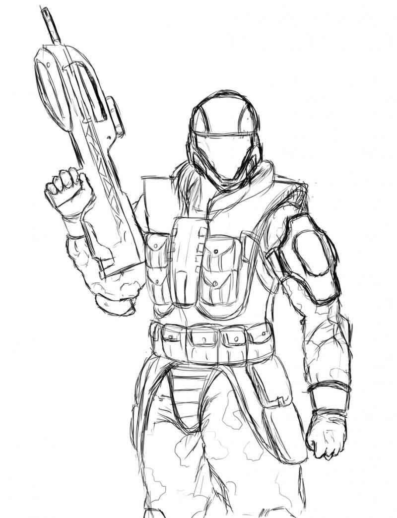 Halo Odst Coloring Pages Halo Drawings Coloring Pages Cartoon Coloring Pages