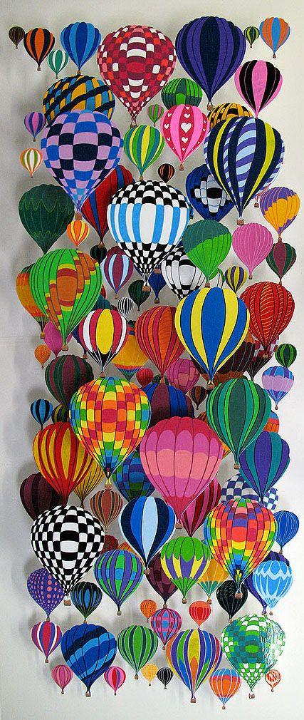 D co de porte voyage vers l imaginaire hot air for Balloon art project