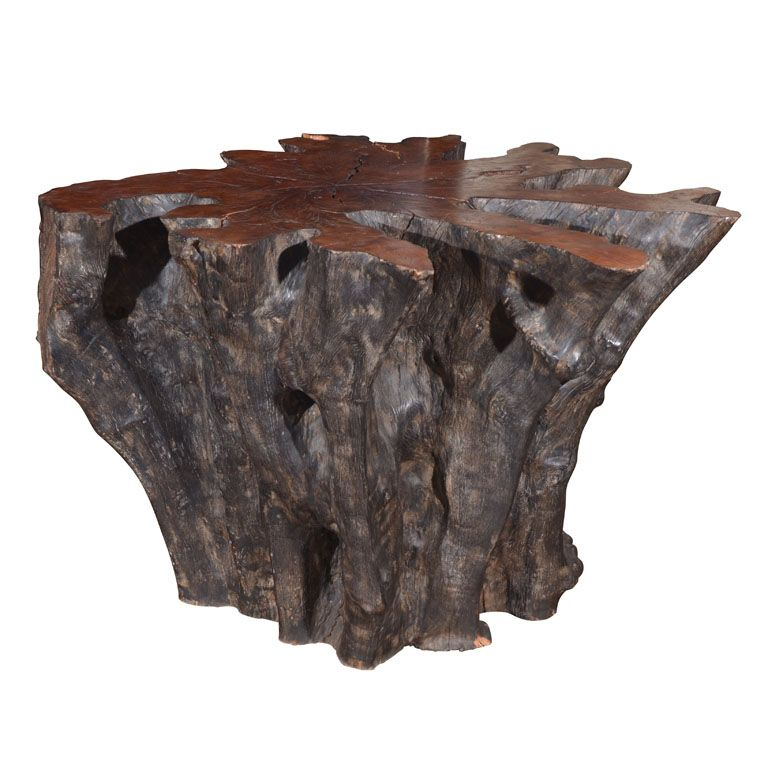 """Large lychee wood table base. One solid block. 411/2""""L x 42""""D x 281/2 H."""
