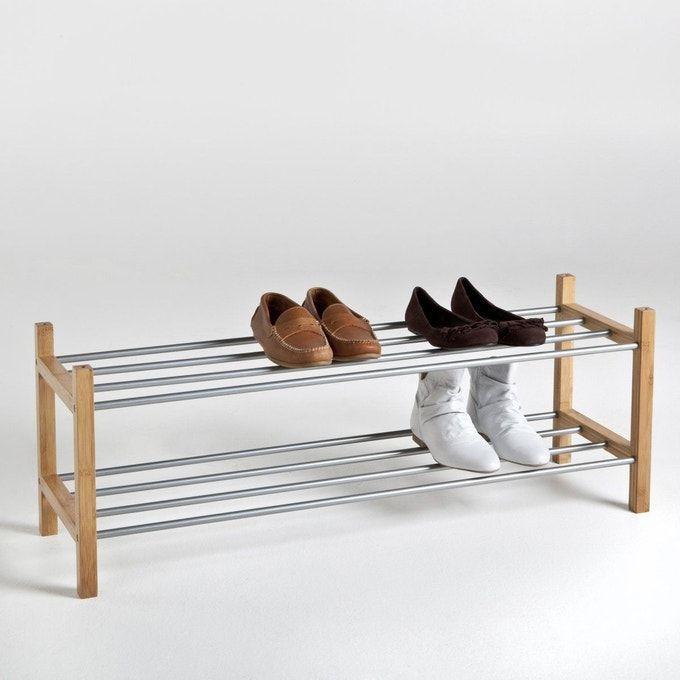 Range Chaussures Bamboo 2 Etageres Bois Clair Naturel La Redoute Interieurs La Redoute En 2020 Rangement Chaussures Meuble Chaussure Meuble Rangement