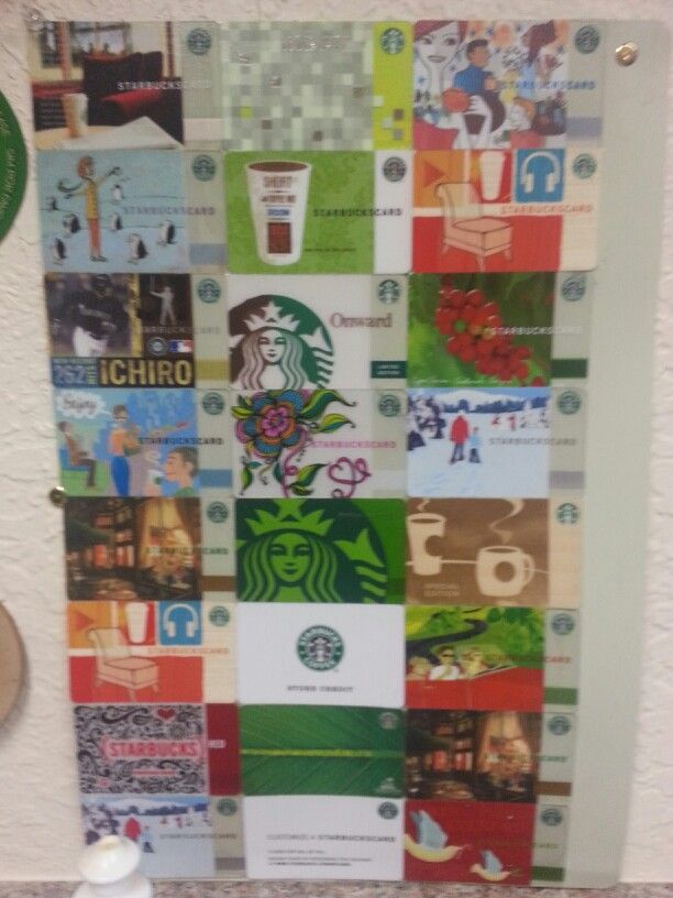 Back Splash For The Kitchen Sink Made Out Of My Old Starbucks Cards