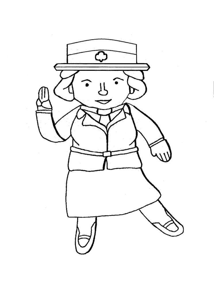 Flat Juliette Brownie Girl Scouts